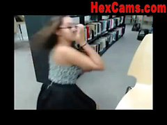 Webcam Girl Orgasms In Public Library