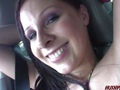 Busty Gianna Michaels sucks dick in a van then is fucked