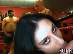 Stunning darlings are team-fucked senseless during orgy