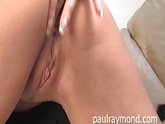 Dressed up Krystall Webb teases and then has a play