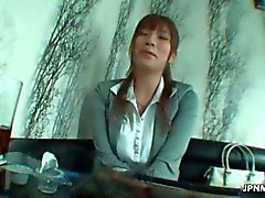 sexy asian office worker milf