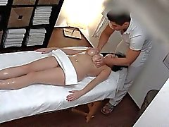 Huge Natural Tits on Massage Table
