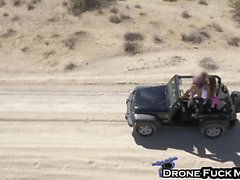 Big Tits Mercedes Carrera Drone Fucking In Desert