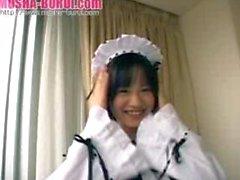 Cute Asian housewife