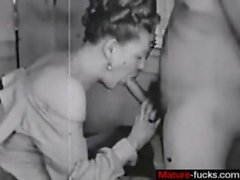 Old porn movie with a hot hairy whore