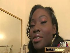 Ebony gets group cumshots 22