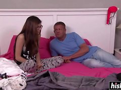 Ava Taylor receives a hard rod