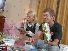 Petite teen blonde gets fingered had in HD teen se