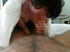 Pale MILF fucked in doggystyle position