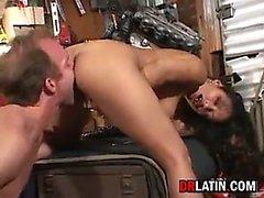 Busty Latin Slut Giving A Blowjob