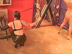 Sadistic Rubber Whipping