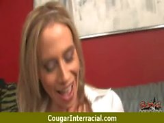 Sexy mature cougar rides black boy 6