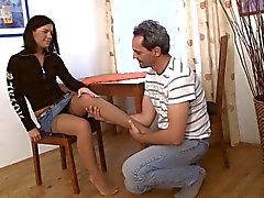 gamle mannen ung flicka - för Ann med sprained vrist