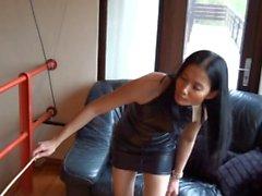 chinesische Geliebte tracht prügel ihr Sklave