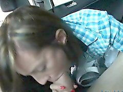 Skinny latina teen nailed by stranger in the backseat