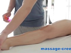 Brunette massaged in anus