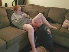 Ignored by Redhead Slut, As I eat Her Pussy and Fuck