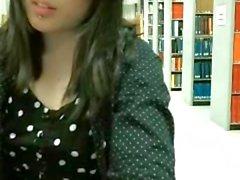 Rebel asian in library