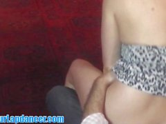18yo cutie sensualy lapdances for horny guy