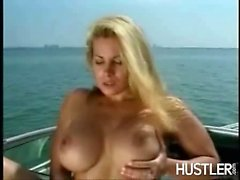 Two sluts fucks on a boat