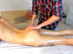 Small tatooed little tits perfect pert ass butt massage