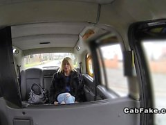 Busty British bbw banged in fake taxi