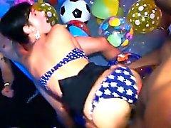 Sensational and wild fuckfest party