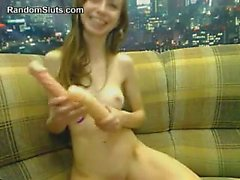 Petite Cam Girl And Her Dildo