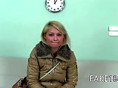 Shy fairhair first time on hidden camera