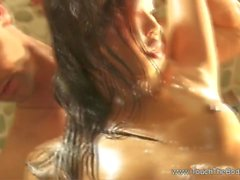 Brunette Lady Gives Her Best Performance To Satisfy Her Part