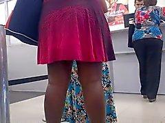 De Nega vestido de calcinha de e socada na de fila do do Banco