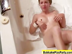 Hot watersports whore gets drenched