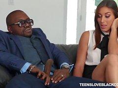 Glamour teen Rilynn Rae interracial sex