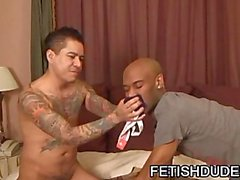 Fetish Latino In JockStrap Face Sitting On Black Dude Cuba Santos