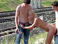Young PUBLIC teen ORGY Part 2