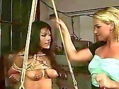 Mistress Kathia Nobili punishing latina girl