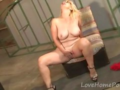 Mature Blonde Seduces Her Neighbor