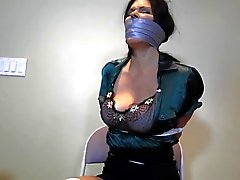 School teacher tied up and GAGGED