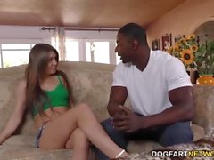 Jojo Kiss gets fucked by her personal trainer in front of her man