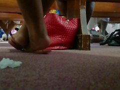 My Friend's Candid Beautiful Ebony Feet at Church 4