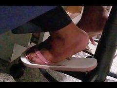 Co worker in flip flops 5