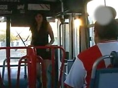 Fucking hot brunette with the walking bus