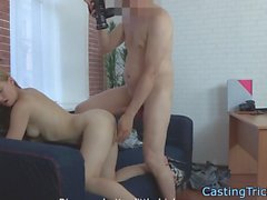 Casting beauty pounded in leaked sextape