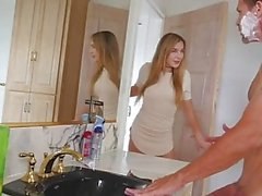 FamilyStrokes - Mom Showered While I fucked My Step-Dad