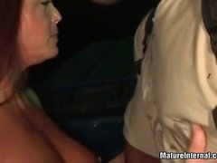 Nice looking slut enjoys in black cock