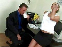 Hottest secretary serves her boss