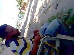 Jerking on street