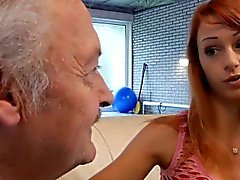 Lucky oldman fucks with super sexy babe Erica Fontes