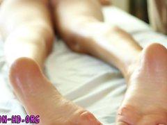 Babe massaged and fucked