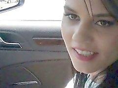 Slutty teen Zelda ripped in the backseat by stranger dude